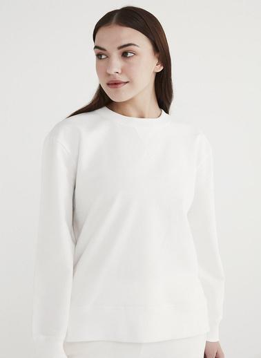 Penti Kadın Beyaz Boyfriend  Sweatshirt PHRWL3MB21IY Beyaz